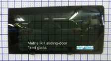 Metris fixed glass for RH sliding-door