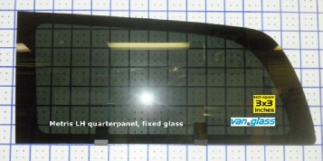 Metris Driver-side quarterpanel fixed glass