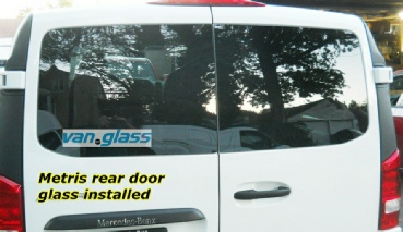Metris rear door glass installed